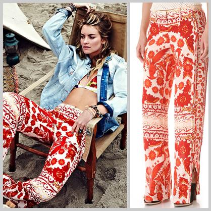 Bohemian Bandana Print Pants