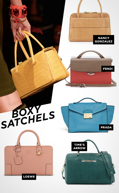 Spring 2014 Must-Have Handbags: Boxy Satchels