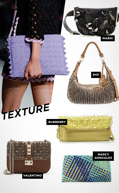 Spring 2014 Must-Have Handbags: Texture