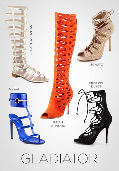 shoes, Spring 2013 shoe trends, footwear, gladiator, gladiator shoes, flats
