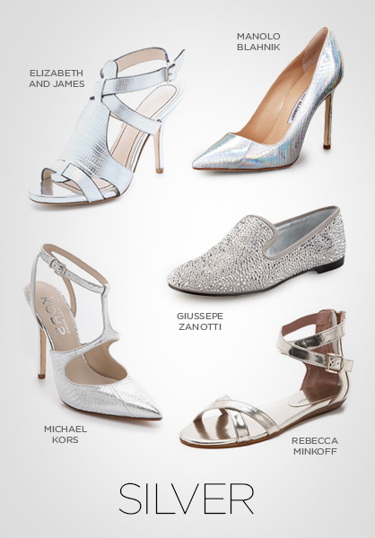 shoes, silver shoes, spring 2013 shoes, trends, footwear, pumps, heels
