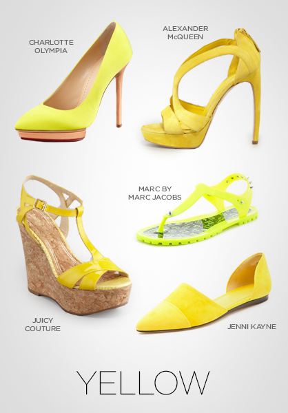 shoes, pumps, heels, sandals, footwear, yellow pumps, yellow heels, spring 2013 shoes, trends