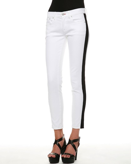 Tuxedo Striped white jean trend Ralph Lauren
