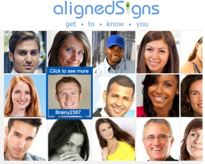 Aligned signs dating online profile
