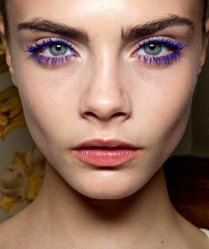 NYE Eye Make Up Trends Colored Mascara