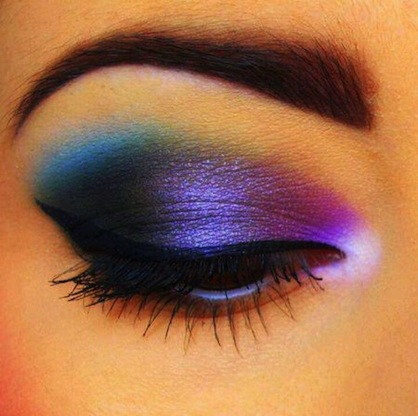 NYE Eye Make Up Trends Gradient Eye Shadow