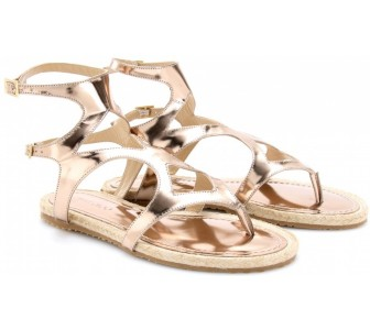 02c5b5bf4f49 A twinkling web of crystal clear beads and thin chains are positioned over  these Zigi Girl Klive sandals. The handcrafted shoes with beige leather  straps ...
