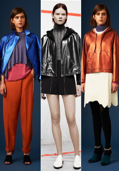 Pre Fall 2014 Leather Trends Metallic