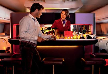 Luxury Travel Transformations Virgin Atlantic Bar
