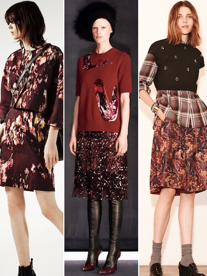 Pre Fall 2014 Color Trends Brandy and Merlot Mixed