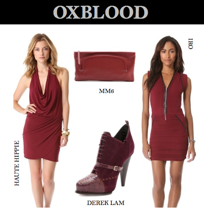 Pre-Fall 2013 Trend: Oxblood
