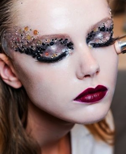NYE Eye Make Up Trends Rhinestones