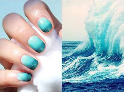 Summer Nail Art Ocean Waves