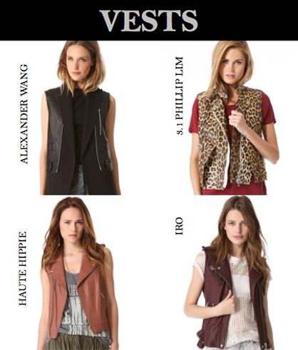 Pre-Fall 2013 Trend: Vests