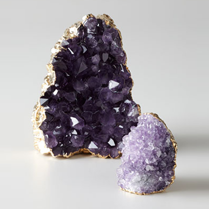 Amethyst paperweight