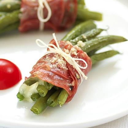 Prosciutto-Wrapped Greens Recipe — Dishmaps
