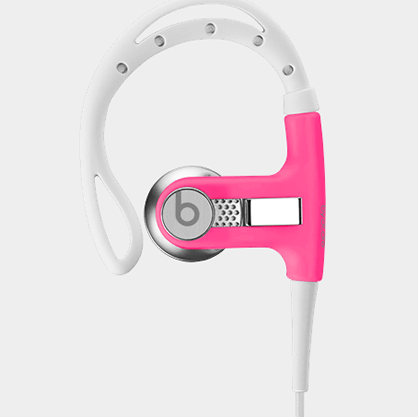 Pink Powerbeats Earbuds by Dr. Dre