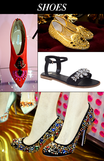 Spring 2014 Shoe Trends Bejeweled Accessories