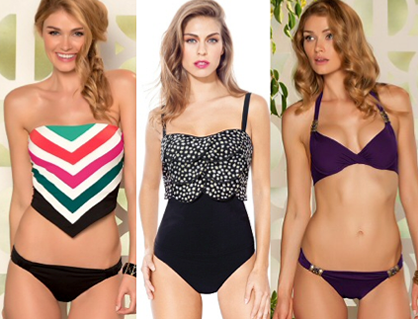 Swimsuits for your body type: bottom-heavy
