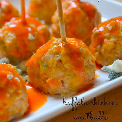 Super Bowl Party Appetizers: Buffalo Chicken Meatballs