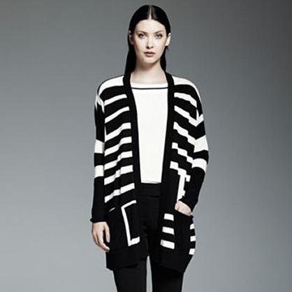 Striped Oversized Cardigan