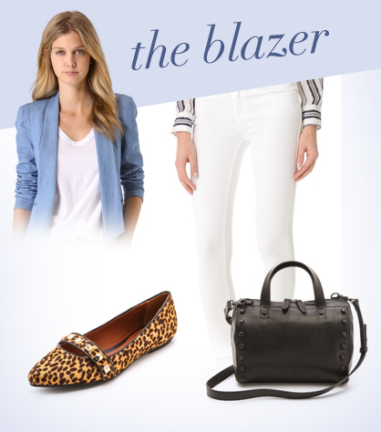 How to wear a chambray blazer