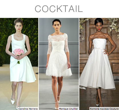 Cocktail Bridal Gowns