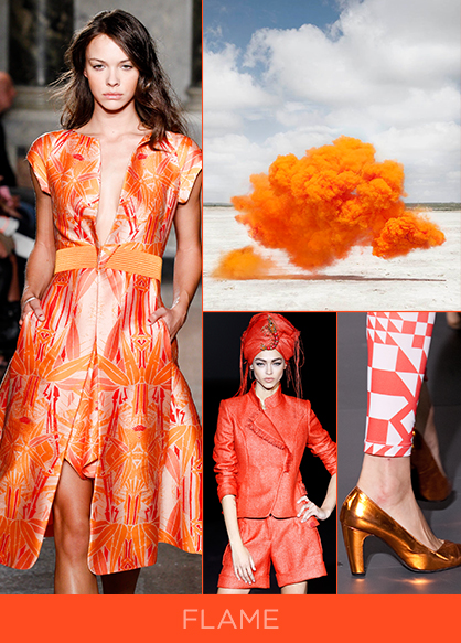 Spring 2014 Color Trend Flame Orange