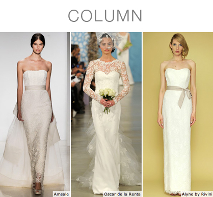 Column Bridal Gowns