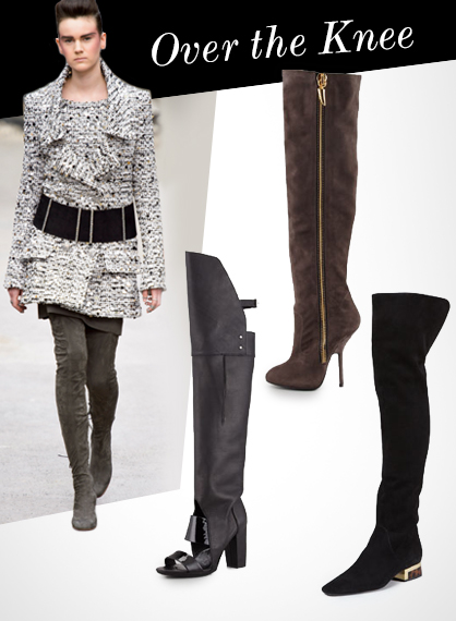 Fall 2013 Footwear Trends: Over the Knee Boots