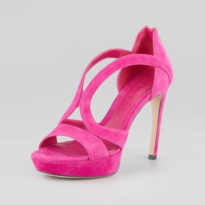 Alexander McQueen Pink Cutout Sandals