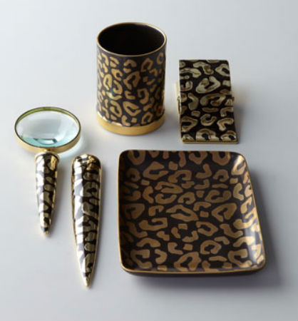Leopard Desk Accessories