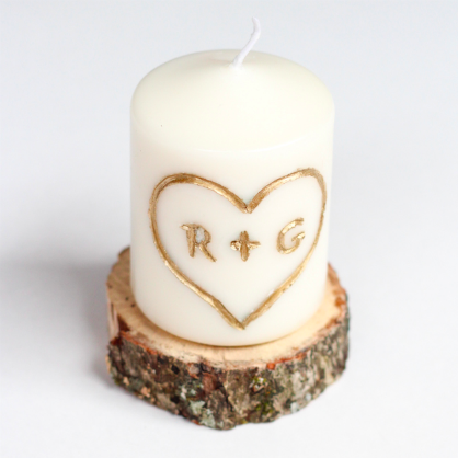 Valentine's Day DIY Engraved Candle