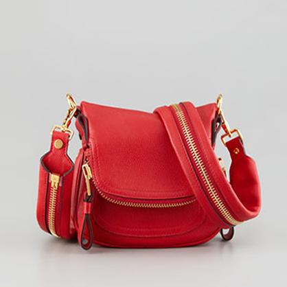 Tom Ford Red Zipper Handbag