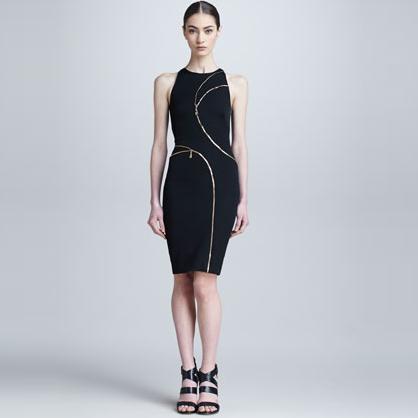 Versace Zipper Front Dress