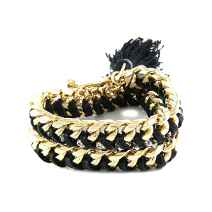 Wrapped in Love Gold and Black Bracelet