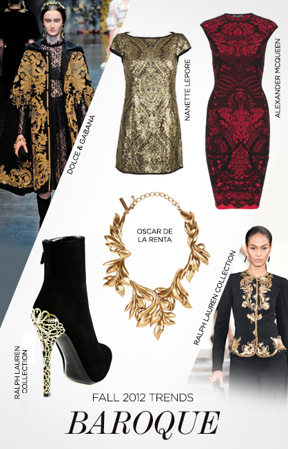 Fall 2012 trends baroque ladylux online luxury for Baroque lifestyle
