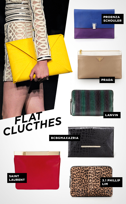 Fall 2013 Handbag Trends: Flat Clutches