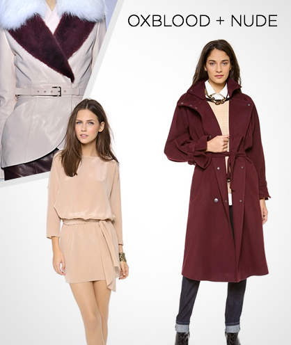 Fall 2013 Color Combinations: Oxblood + Nude