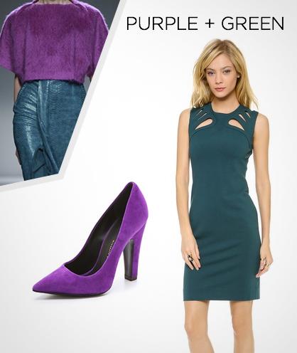 Fall 2013 Color Combinations: Purple + Green
