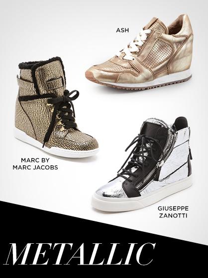 Fall 2013 Metallic Sneakers