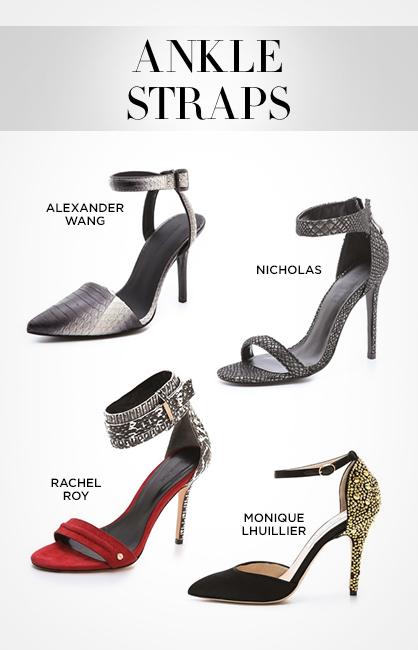 Fall 2013 Footwear: Ankle Straps