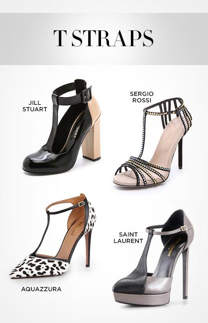 Fall 2013 Footwear: T Straps