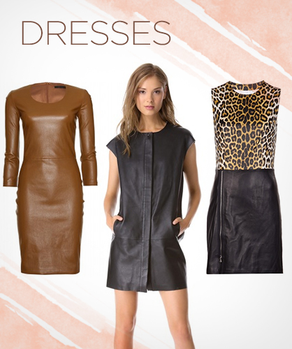 Fall 2013 Leather Dresses