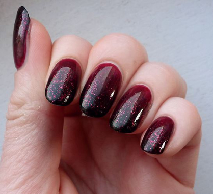 Fall Nail Art Oxblood Ombre