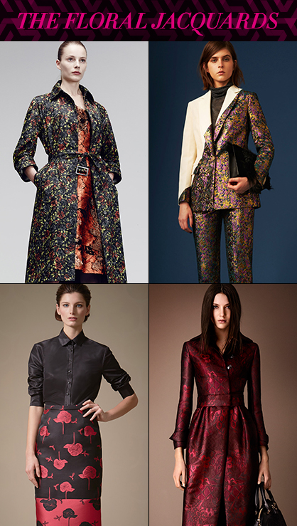 Pre Fall 2014 Runway Trends Floral Jacquard Graphics