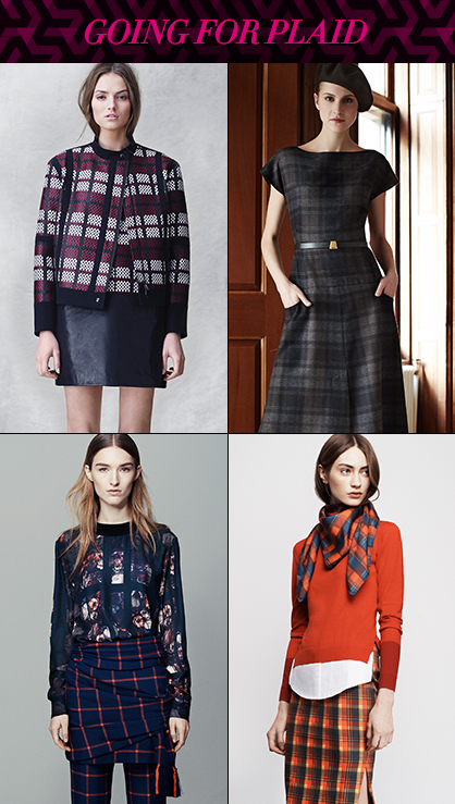 Pre Fall 2014 Runway Trend Plaid Graphics