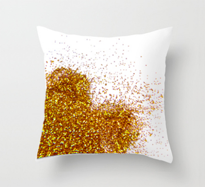 Valentine's Day DIY Glitter Pillow