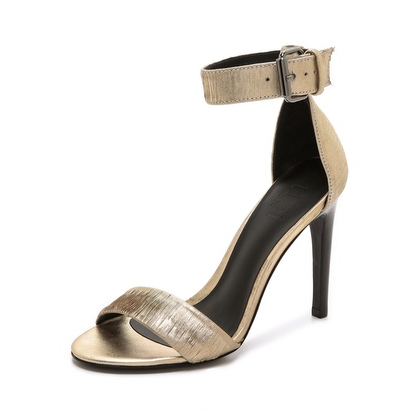 Gold Ankle Wrap Sandals