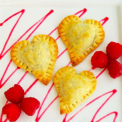 Valentine's Day Dessert: Chocolate Heart Tarts